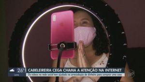 Cabeleireira cega de São Carlos chama atenção na internet