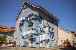 Grafite e arte abstrata: murais de ilusão de ótica incríveis, pelo artista italiano Peeta